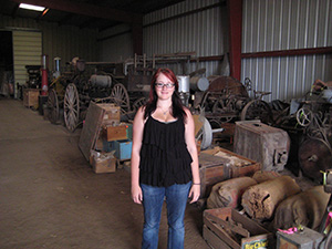 Tia Stenson at her State Historical Society of North Dakota internship.