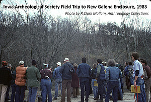 Iowa Archeological Society Field Trip to New Galena Enclosure.