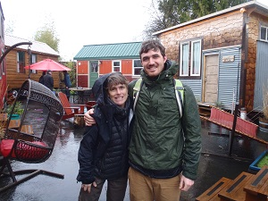 Jonathan Williams in Oregon with a number of tiny houses.