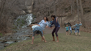 Students participating in the National Water Dance