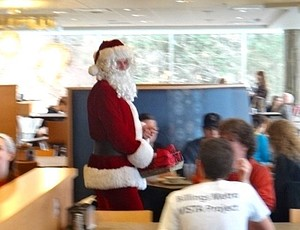 You've got to love a Caf Santa.