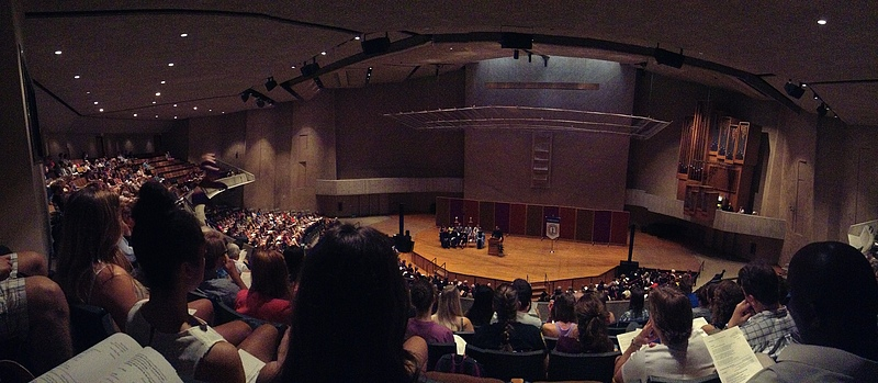 Sitting in the balcony at Convocation