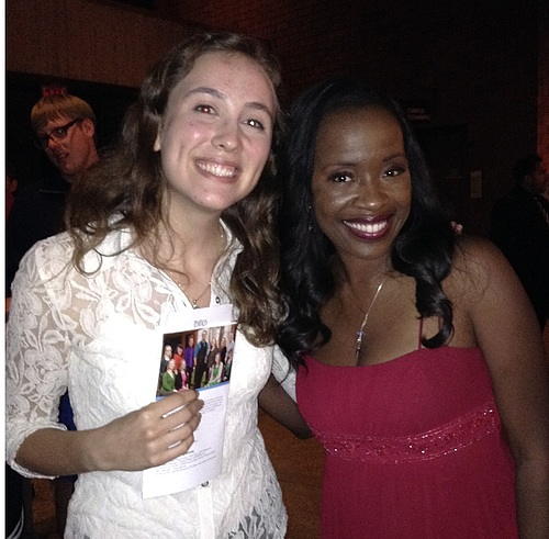Me with Broadway actress Jeannette Bayardelle!
