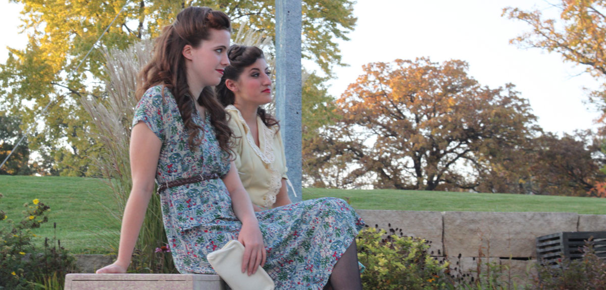 "Students performed outside for ""Much Ado About Nothing"""