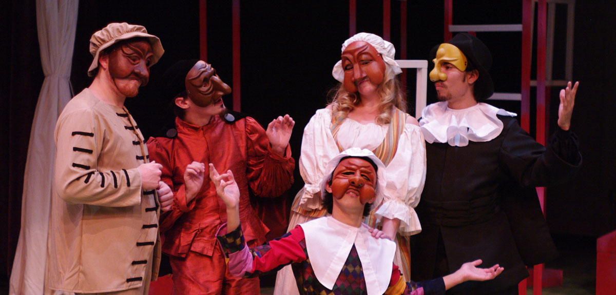 "Students perform in Luther's ""Servant of Two Masters"""