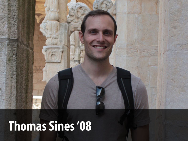 Alumni profile of Thomas Sines '08.
