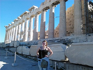 Yes, that is the Parthenon in Athens, Greece. You are not mistaken!
