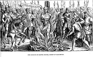 Burning of Master Hooper, Bishop of Gloucester