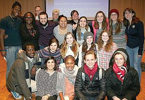 Dr. Angela Onwuachi-Willig with Luther students, staff and faculty