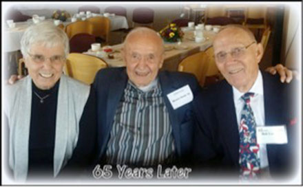 Joyce (Everson) Lee '56, Weston Noble'43, and Robert E. Lee, '50