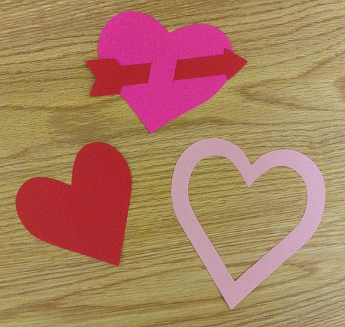 Paper hearts, cut by the magnificent Ellison Paper Cutter