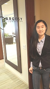 Mengyu Duan at her internship with Argosy.