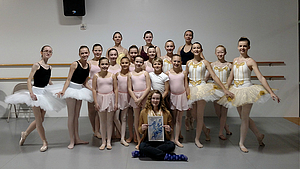 Abigail with the students of Yaro Dance Company