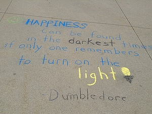 Chalk art for Happiness Week!
