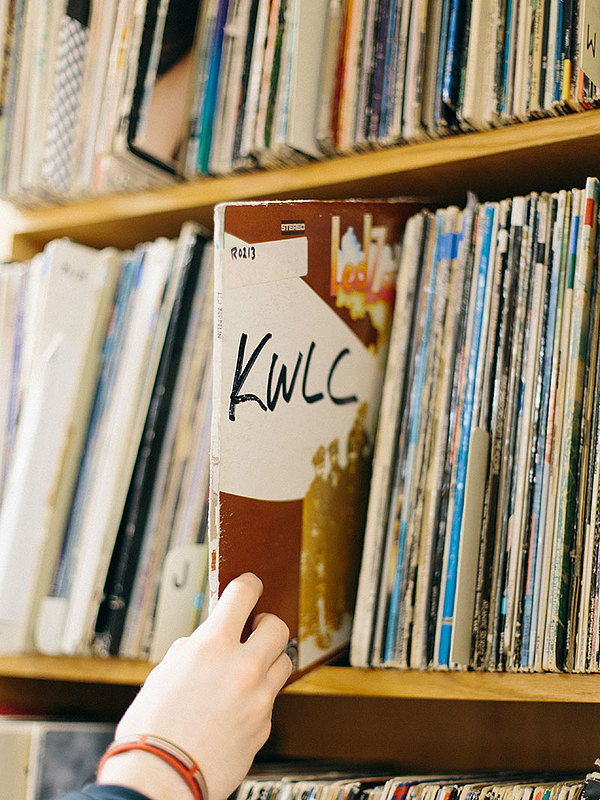The KWLC audio collection includes CDs as well as vinyl.