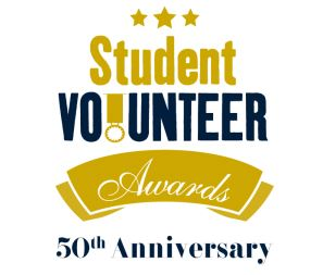 Logo for the Volunteer Awards Ceremony at University of Nottingham, England.