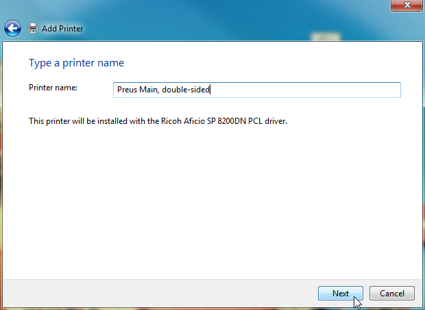 Windows Network Print Training - Name Printer