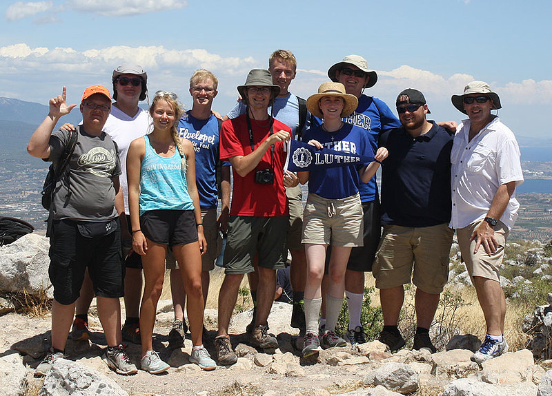Luther students at the Kenchreai Archeology Project. The Jakob and Clarice Larsen Endowment helps make this experience possible for Luther students. Jakob Larsen (class of 1908), one of the sons of Luther's first president, Laur. Larsen, was Luther's first Rhodes Scholar. He earned a Ph.D. in classics at Harvard and taught ancient history at the University of Chicago. Photos courtesy of Dan Davis.