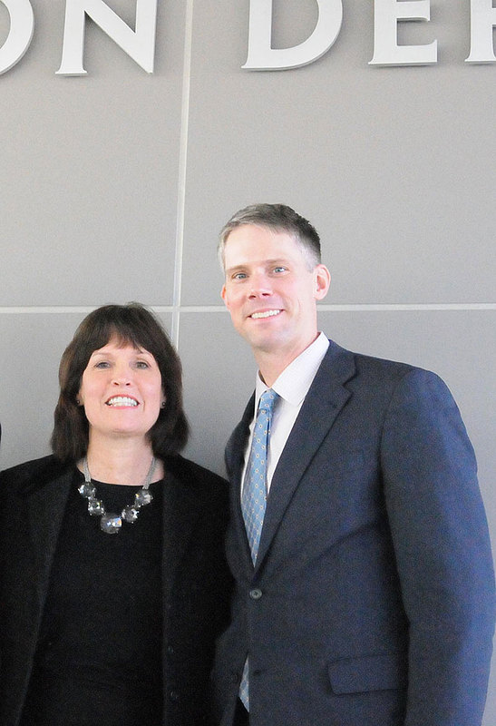 Josh Straka '97 with Minnesota Congresswoman Betty McCollum