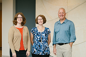 Neuroscience faculty from left to right: Stephanie Fretham, Kristy Gould and Scott Carlson.