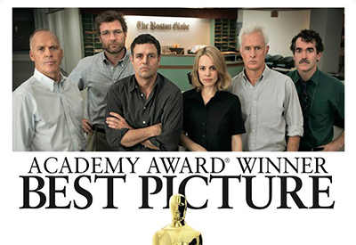 "Academy Award winning film, ""Spotlight."""