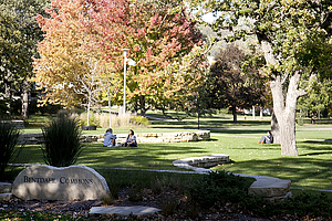 Cue the picturesque autumn shots of campus. Convincing right?