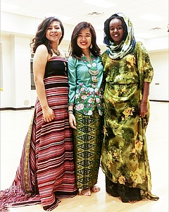 Powerpuff girls much? Here are the national costumes of East Timor (far left) and Somaliland (far right).
