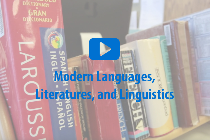 Modern Languages, Literatures, and Linguistics