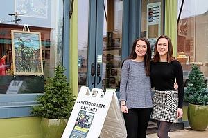 Emma Schlabach '19 and supervisor Kara Maloney '16 at Lanesboro Arts.