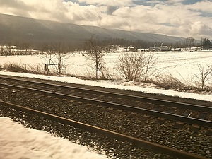 A view from the train in rural PA