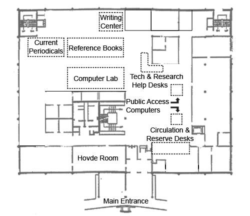 Preus Library Main Floor Map