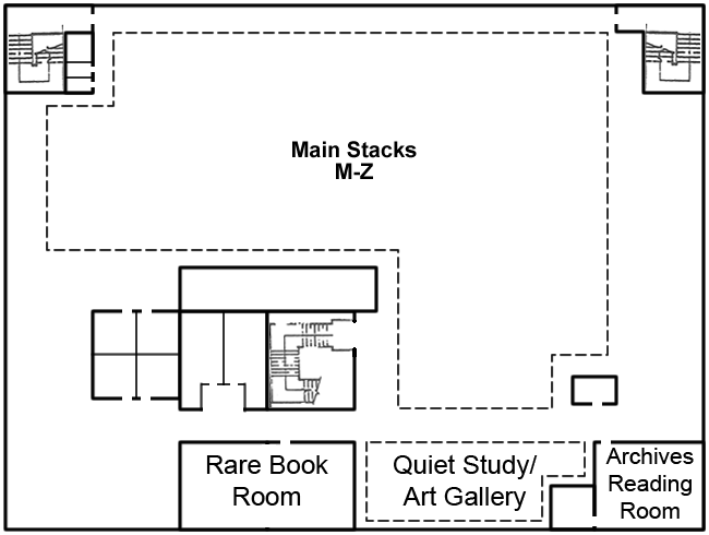 Preus Library Upper Floor Map