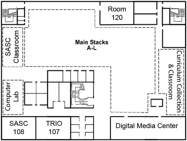 Preus Library Lower Floor Map