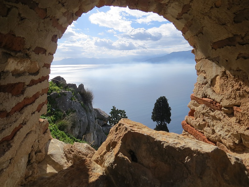 View from an ancient fortress in Nafplio, Greece