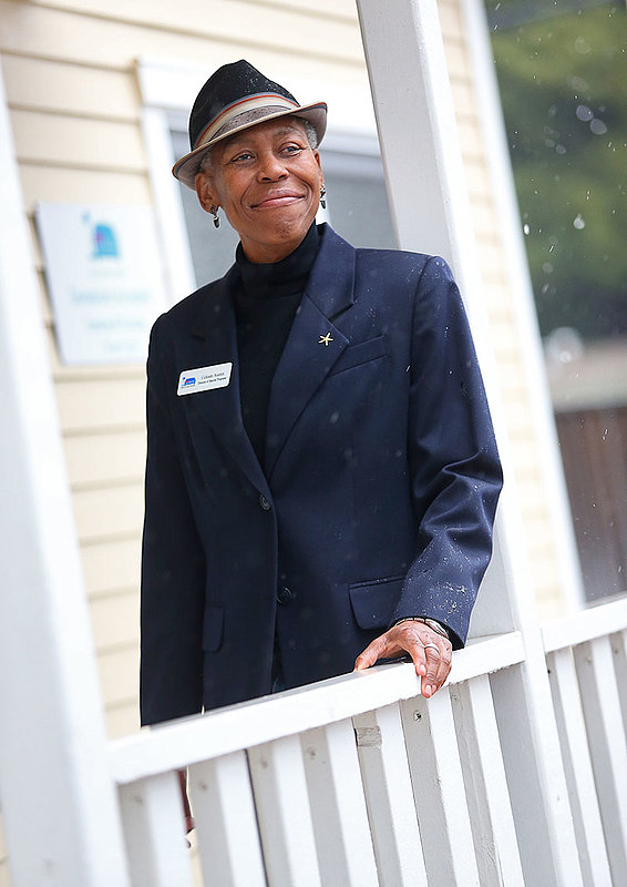 """I've always cared about people and I've always been a social activist in some way or another,"" says Celeste Austin '73. Photo by Christopher Chung/Press Democrat."
