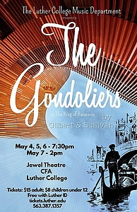 The Gondoliers - poster by Marie Sauze