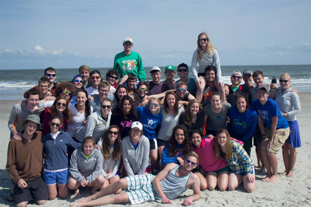 Pound and Freya teams at Tybee Island, Ga., spring break 2014. Photo courtesy Jesse Hitz Graff '16.