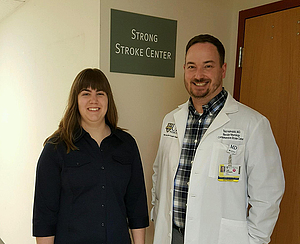 Jenna Iverson '18 and Dr. Todd Holmquist '96