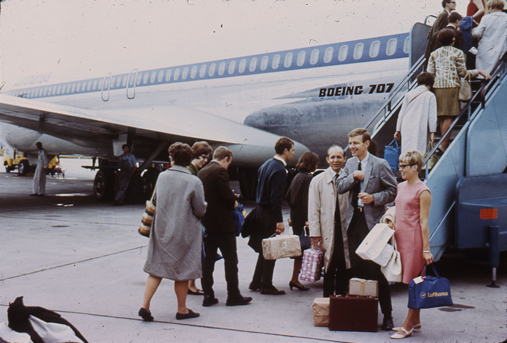 Tour members took off from the United States via chartered plane.