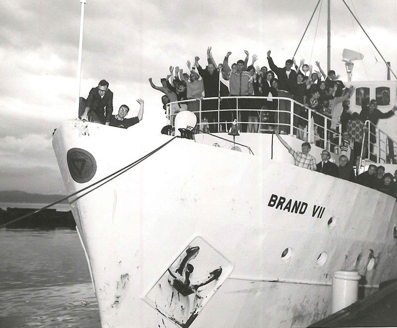 The Brand VII provided transportation along the Norwegian coast.