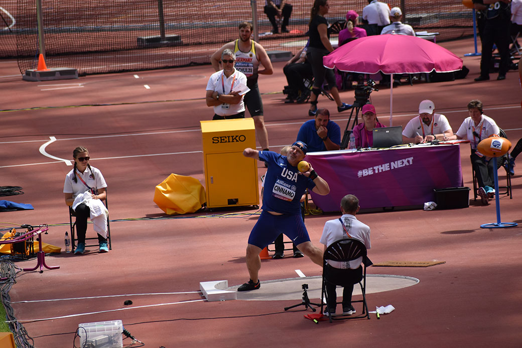 Josh Cinnamo '03 set another American record at the London Para Athletics Championships in July.