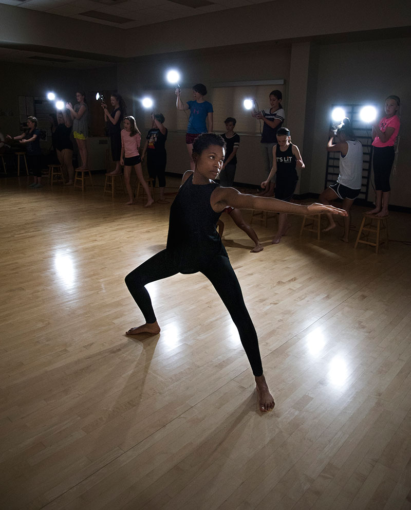 Christie Owens '16 returned to campus in July to co-lead the second annual Luther College Dance Camp.