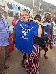 Rozlyn Paradis '18 found a Luther T-Shirt being sold at the bus stop in Nyabugogo, Kigali!