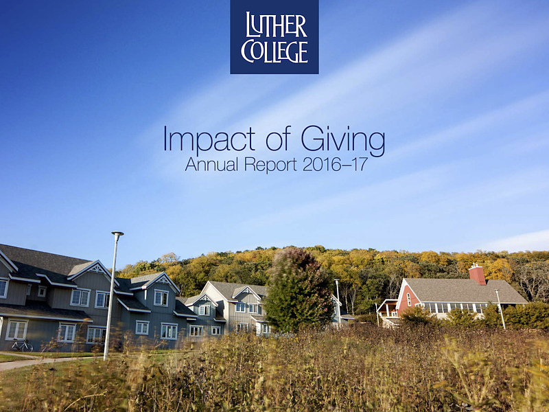 Luther College Annual Report 2016-17