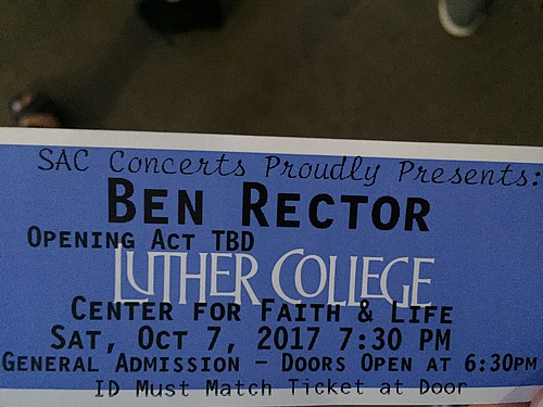 My ticket to the concert.
