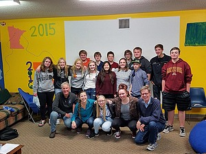 Youth group at Light of Christ Lutheran Church in Delano, Minnesota