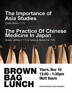 Brown Bag Lunch Discussion November 16, 2017