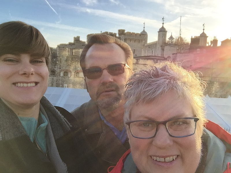 While this picture is of Gabby and her parents in London, they will be spending Christmas in Dublin!