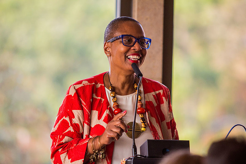 Lisa Scott, interim dean of institutional equity and inclusion, asks the Luther community to reflect on what experience we want to offer those who live, work, teach, and study here. Photo by Kien Dao '20.