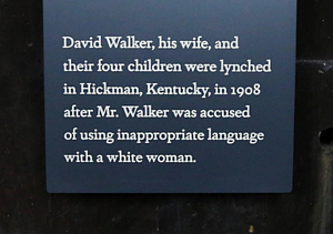 David Walker plaque